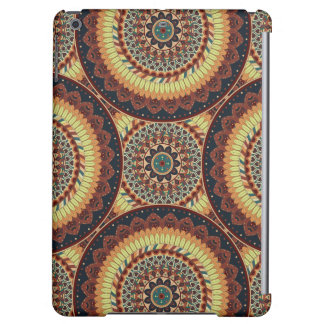 Colorful abstract ethnic floral mandala pattern iPad air covers
