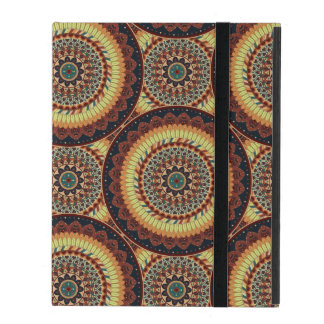 Colorful abstract ethnic floral mandala pattern iPad case