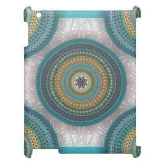 Colorful abstract ethnic floral mandala pattern iPad cover