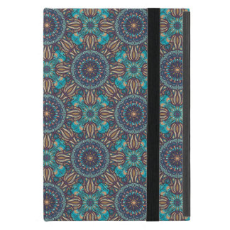 Colorful abstract ethnic floral mandala pattern iPad mini covers