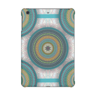 Colorful abstract ethnic floral mandala pattern iPad mini retina case