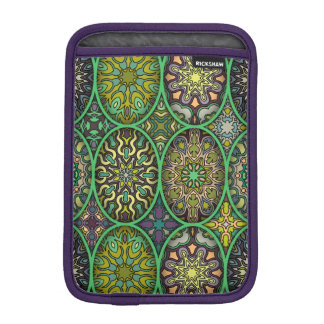 Colorful abstract ethnic floral mandala pattern iPad mini sleeve