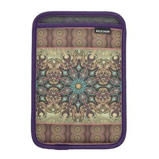 Colorful abstract ethnic floral mandala pattern iPad mini sleeves