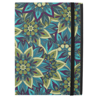 "Colorful abstract ethnic floral mandala pattern iPad pro 12.9"" case"