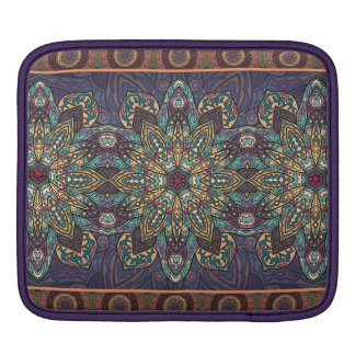 Colorful abstract ethnic floral mandala pattern iPad sleeve