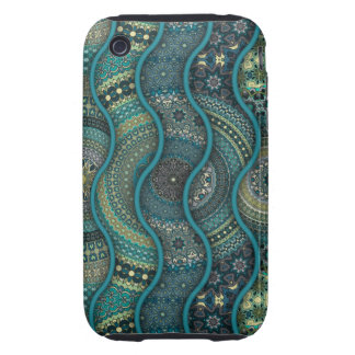 Colorful abstract ethnic floral mandala pattern iPhone 3 tough covers