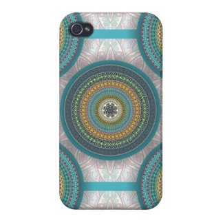 Colorful abstract ethnic floral mandala pattern iPhone 4/4S case