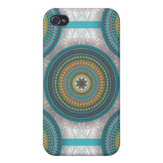 Colorful abstract ethnic floral mandala pattern iPhone 4 cover
