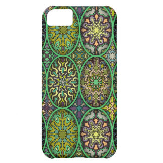 Colorful abstract ethnic floral mandala pattern iPhone 5C cases