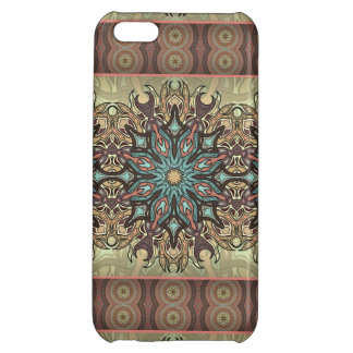 Colorful abstract ethnic floral mandala pattern iPhone 5C covers