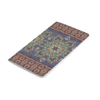 Colorful abstract ethnic floral mandala pattern journal