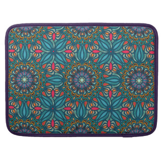 Colorful abstract ethnic floral mandala pattern MacBook pro sleeves
