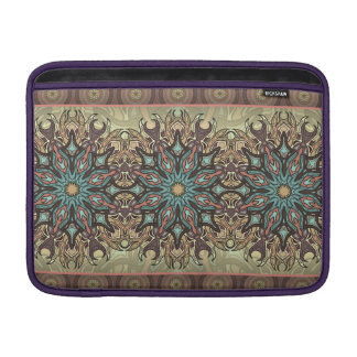 Colorful abstract ethnic floral mandala pattern MacBook sleeve