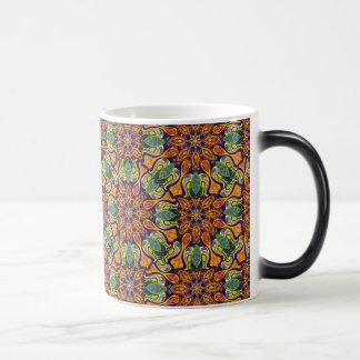 Colorful abstract ethnic floral mandala pattern magic mug