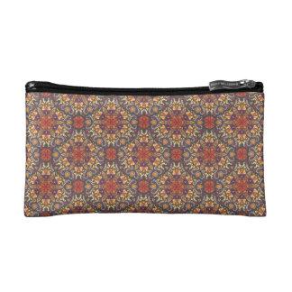 Colorful abstract ethnic floral mandala pattern makeup bag