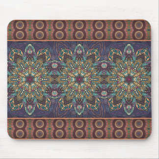 Colorful abstract ethnic floral mandala pattern mouse pad