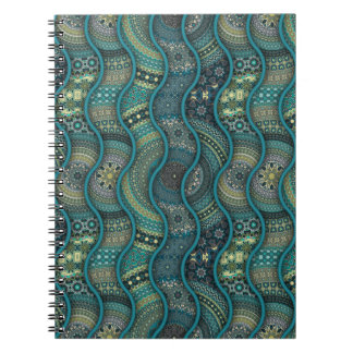Colorful abstract ethnic floral mandala pattern notebook