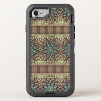 Colorful abstract ethnic floral mandala pattern OtterBox defender iPhone 7 case