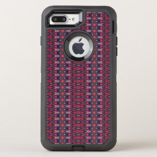 Colorful abstract ethnic floral mandala pattern OtterBox defender iPhone 8 plus/7 plus case