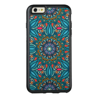 Colorful abstract ethnic floral mandala pattern OtterBox iPhone 6/6s plus case