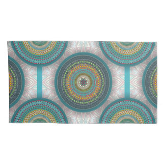 Colorful abstract ethnic floral mandala pattern pillowcase
