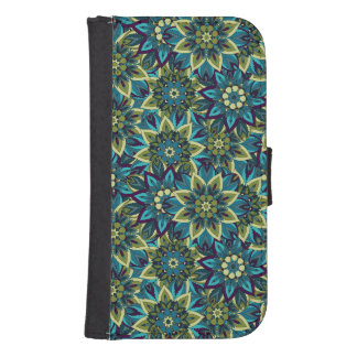 Colorful abstract ethnic floral mandala pattern samsung s4 wallet case