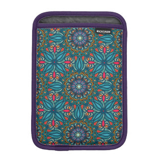 Colorful abstract ethnic floral mandala pattern sleeve for iPad mini