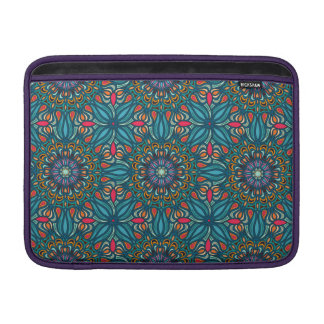 Colorful abstract ethnic floral mandala pattern sleeve for MacBook air