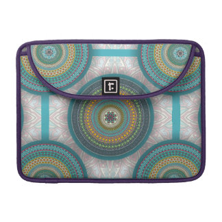 Colorful abstract ethnic floral mandala pattern sleeve for MacBook pro