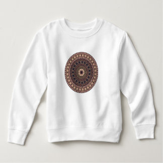 Colorful abstract ethnic floral mandala pattern sweatshirt