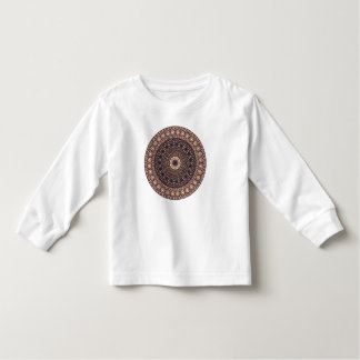 Colorful abstract ethnic floral mandala pattern toddler t-shirt