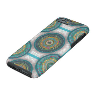 Colorful abstract ethnic floral mandala pattern tough iPhone 6 case