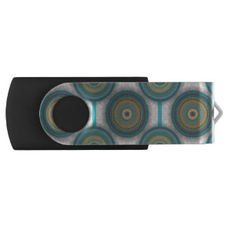 Colorful abstract ethnic floral mandala pattern USB flash drive