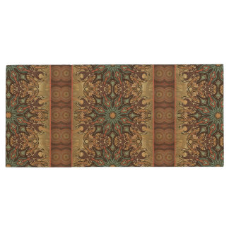 Colorful abstract ethnic floral mandala pattern wood USB 2.0 flash drive