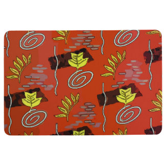 Colorful Abstract Fall Leaves Floor Mat