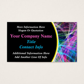 Colorful Abstract Fireworks Pattern Business Cards