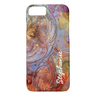 Colorful Abstract Floral Geometric Swirls iPhone 7 Case