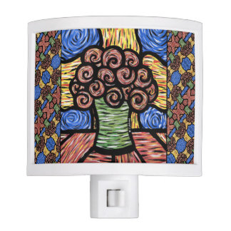 Colorful Abstract Floral Nite Light