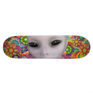Colorful Abstract Floral Pattern Extraterrestrial Skate Decks