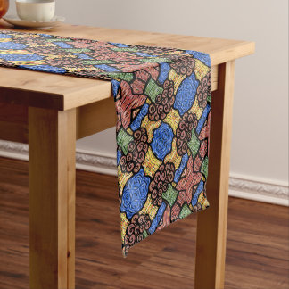 Colorful Abstract Floral Pattern Long Table Runner