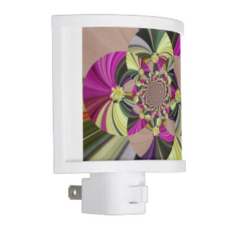 Colorful Abstract Floral Pattern Night Lites