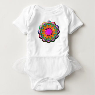 Colorful abstract flower baby bodysuit
