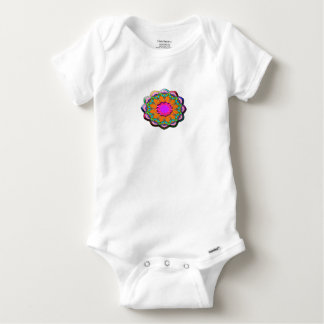 Colorful abstract flower baby onesie