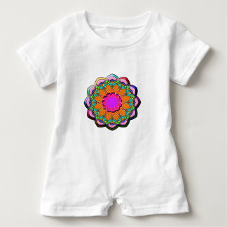Colorful abstract flower baby romper