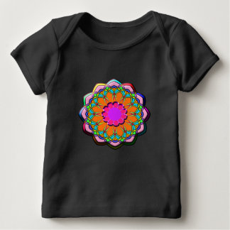 Colorful abstract flower baby T-Shirt