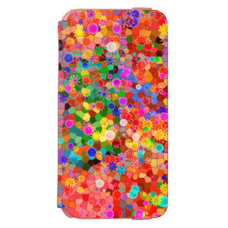 Colorful abstract Flower Case Incipio Watson™ iPhone 6 Wallet Case