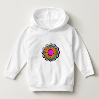 Colorful abstract flower hoodie