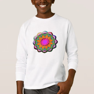 Colorful abstract flower T-Shirt