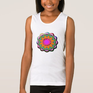 Colorful abstract flower tank top