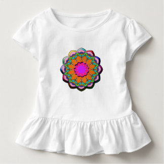 Colorful abstract flower toddler t-shirt